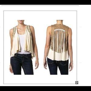 Miss Me - Run Wild faux suede Fringe vest